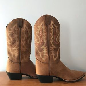 Ladies JUSTIN  Western Leather Boots Size 8.5B